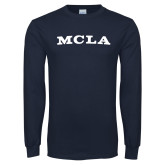 Navy Long Sleeve T Shirt-MCLA