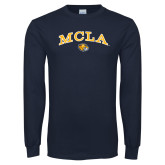Navy Long Sleeve T Shirt-Arched MCLA