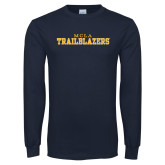 Navy Long Sleeve T Shirt-MCLA Trailblazers