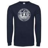Navy Long Sleeve T Shirt-Normal School Seal