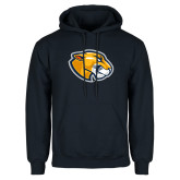 Navy Fleece Hoodie-Mascot Head