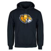 Navy Fleece Hoodie-Mascot Head