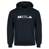 Navy Fleece Hoodie-MCLA