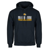Navy Fleece Hoodie-Trailblazers Repeating