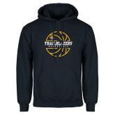 Navy Fleece Hoodie-Basketball Ball Design