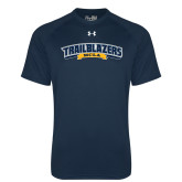 Under Armour Navy Tech Tee-Wordmark
