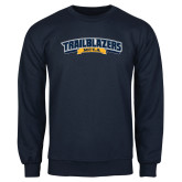 Navy Fleece Crew-Wordmark