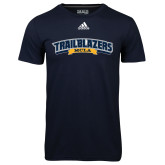 Adidas Climalite Navy Ultimate Performance Tee-Wordmark