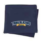 Navy Sweatshirt Blanket-Wordmark