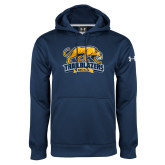 Under Armour Navy Performance Sweats Team Hoodie-Primary Mark