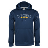 Under Armour Navy Performance Sweats Team Hoodie-Wordmark