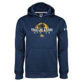 Under Armour Navy Performance Sweats Team Hoodie-Soccer Half Ball Design
