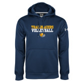 Under Armour Navy Performance Sweats Team Hoodie-Volleyball Workmark