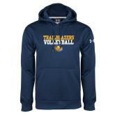 Under Armour Navy Performance Sweats Team Hoodie-Volleyball Workmark