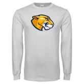 White Long Sleeve T Shirt-Mascot Head