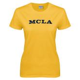 Ladies Gold T Shirt-MCLA