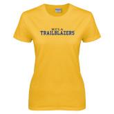 Ladies Gold T Shirt-MCLA Trailblazers