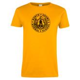 Ladies Gold T Shirt-Normal School Seal