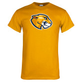 Gold T Shirt-Mascot Head