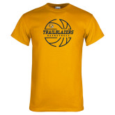Gold T Shirt-Basketball Ball Design