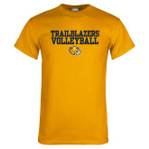 Gold T Shirt-Volleyball Workmark