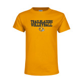 Youth Gold T Shirt-Volleyball Workmark