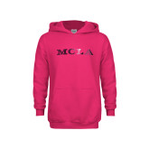 Youth Raspberry Fleece Hoodie-MCLA  Foil