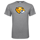 Grey T Shirt-Mascot Head
