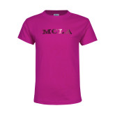Youth Cyber Pink T Shirt-MCLA  Foil