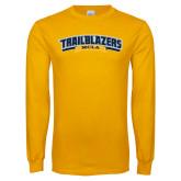Gold Long Sleeve T Shirt-Wordmark