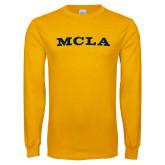 Gold Long Sleeve T Shirt-MCLA