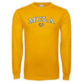 Gold Long Sleeve T Shirt-Arched MCLA