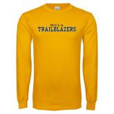 Gold Long Sleeve T Shirt-MCLA Trailblazers
