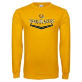 Gold Long Sleeve T Shirt-Baseball Plate Design