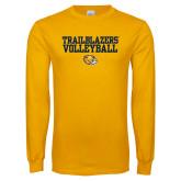 Gold Long Sleeve T Shirt-Volleyball Workmark