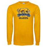 Gold Long Sleeve T Shirt-Grandpa