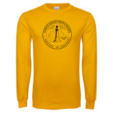 Gold Long Sleeve T Shirt-North Adams State College Seal