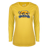 Ladies Syntrel Performance Gold Longsleeve Shirt-Primary Mark