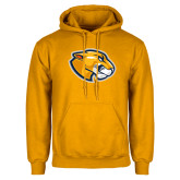 Gold Fleece Hoodie-Mascot Head
