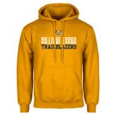Gold Fleece Hoodie-Trailblazers Repeating