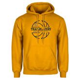 Gold Fleece Hoodie-Basketball Ball Design