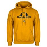 Gold Fleece Hoodie-Soccer Half Ball Design