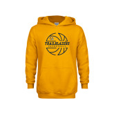 Youth Gold Fleece Hoodie-Basketball Ball Design