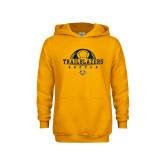 Youth Gold Fleece Hoodie-Soccer Half Ball Design