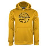 Under Armour Gold Performance Sweats Team Hoodie-Basketball Ball Design