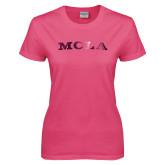 Ladies Fuchsia T Shirt-MCLA  Foil