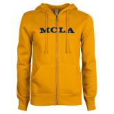 ENZA Ladies Gold Fleece Full Zip Hoodie-MCLA