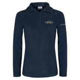 Columbia Ladies Half Zip Navy Fleece Jacket-Wordmark
