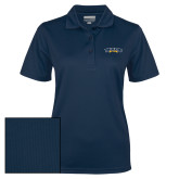 Ladies Navy Dry Mesh Polo-Wordmark