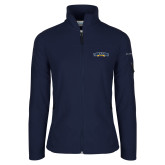 Columbia Ladies Full Zip Navy Fleece Jacket-Wordmark